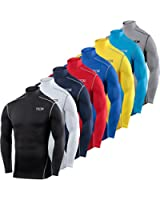 Mens & Boys TCA Pro Performance Compression Base Layer Long Sleeve Thermal Top - Mock Neck