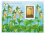 Flora Briefmarken / Mongolei Blume Orchid and Butterfly Sonderblock perforiert Stempel / 1997 / MNH