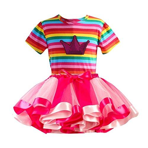 JERFER Rainbow Kostüm Rock Kinder (3T-9T) Mädchen Tutu Tüll Party Tanz Ballett Kinder (Günstige Ballett Tanz Kostüme)
