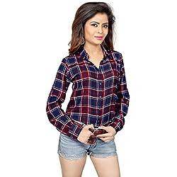 a6874e34d3b13 Trendif Women s Viscose Shirt (3045M Red Medium)
