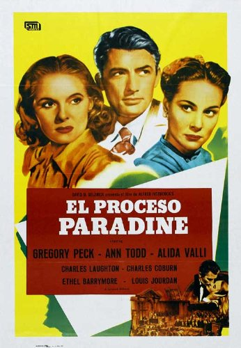 La custodia Paradine Movie Poster spagnolo, 69 x 102 cm, modello: Gregory Peck Alida Valli Ann Todd Louis Charles Jourdan Laughton Charles Coburn