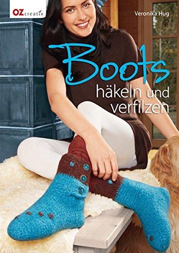 Boots häkeln und verfilzen (Haus-boot-hausschuhe)
