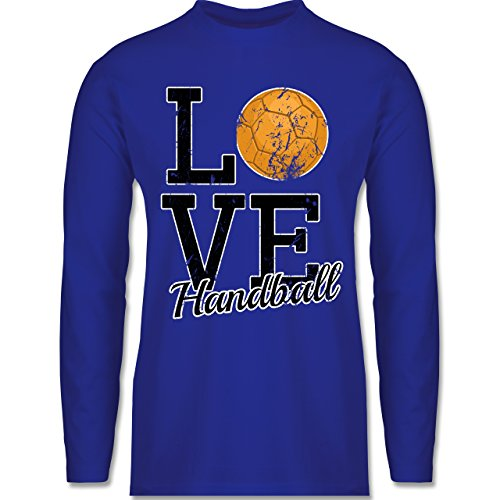 Shirtracer Handball - Love Handball - Herren Langarmshirt Royalblau
