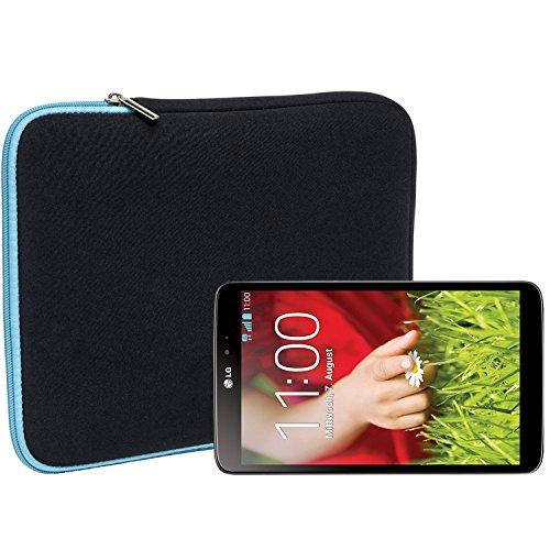 Slabo Tablet Tasche Schutzhülle für LG G Pad 8.0 Hülle Etui Case Phablet aus Neopren – TÜRKIS/SCHWARZ