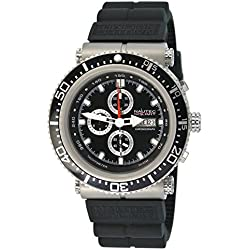Nautec No Limit Gents Watch XL Deep Sea Professional Chronograph DS-P / RBSTBKBK QZ2 Rubber Quartz