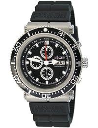 Nautec No Limit Herren-Armbanduhr XL Deep Sea Professional Chronograph Quarz Kautschuk DS-P QZ2/RBSTBKBK