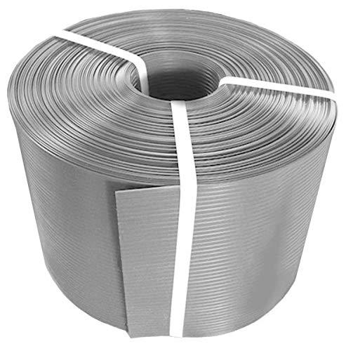 Thermoplast® ZAUNSICHTSCHUTZSTREIFEN, Sichtschutzblende, 19cm x 26m = 4,94m2, Grau (RAL 7040), 5 Jahre Garantie