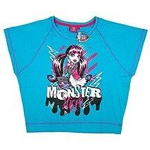 Pour filles Monster High Squelette Col rond Manches chauve-souris Haut T-Shirt T-Shirt tailles 36 à 42 An (87688)