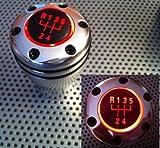 Pomo del cambio con luz LED roja