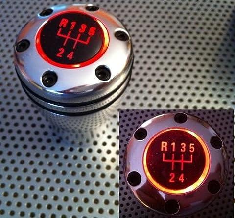 Pommeau de levier de vitesse avec éclairage LED rouge pour