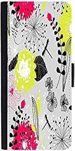 Snoogg Retro Floral Seamless Background Designer Protective Phone Flip Case Cover For Yu Yuphoria