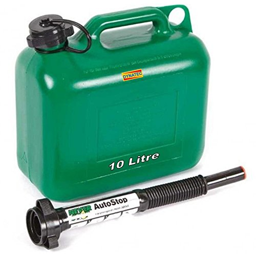 jerry-can-10-l-litre-petrol-oil-diesel-fuel-container-auto-stop-nozzle-flexi-spout-green