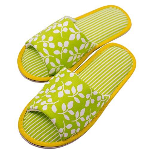 TWINS Fashion « Valencia » schöne & süße Damen-Hausschuhe I Latschen I Pantoffeln I Slippers - Plüsch Baumwolle rutschfest - diverse Farben (36/37, Grün) (Für Kitty-schuhe Hello Erwachsene)