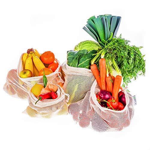 Instant Eco Bolsas reutilizables fruta Juego 5 - Bolsas