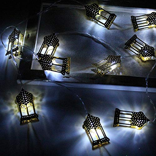 QUICKLYLY-Ramadán Luces decoración Eid Luces LED
