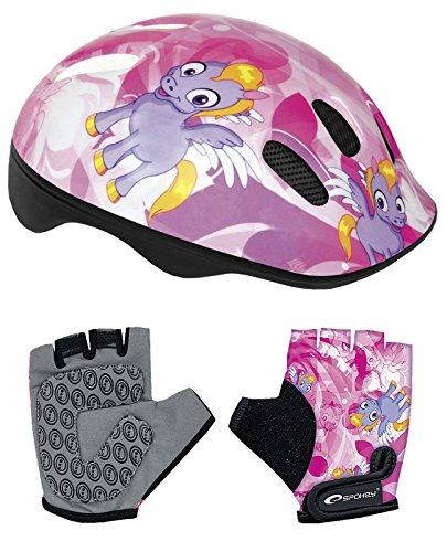 Spoke Fahrradhelm und Handschuhe mit Police-Design, für Jungen und Mädchen Pony 16 cm