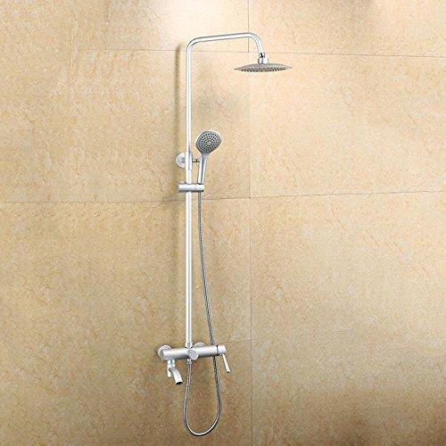 BY-Doccia in alluminio imposta lo spazio doccia, sanitari, doccia appendere-parete rotonda, sotto il rubinetto, casa bagno