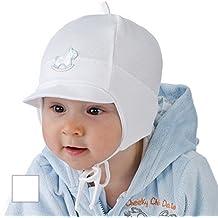 New Baby Boy gorro niños primavera otoño Visera Gorro de bautizo, bautismo, 0-12meses