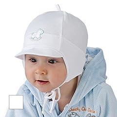 Idea Regalo - New Baby Boy-Berretto da ragazzo, motivo: battesimo Cappello da 0-12 mths Berretto Bianco bianco 0-3 months 40cm