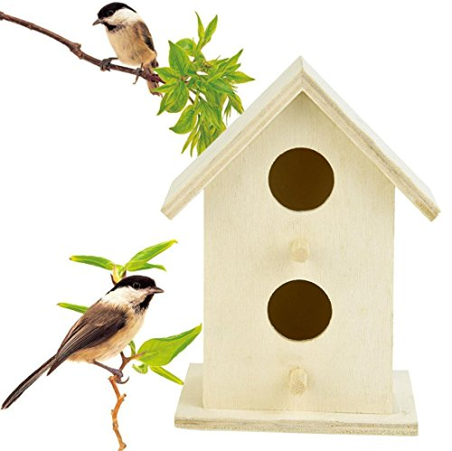 Cloom Vogel-Nisthaus, Nistkasten, Nisthöhle, Vogelhaus, Vogelhäuschen Für Kleinsingvögel, Ganzjahresnutzung, Landhaus DIY Vogelhäuser Nisthaus Vogelkiste Kreative DIY Holz Outdoor Vogelhaus (D)