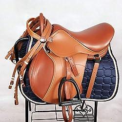 GCSEY Horse Saddle Set, Saddle Silla De Montar Integral para Niños, Silla De Montar Completa, Suministros para Caballos