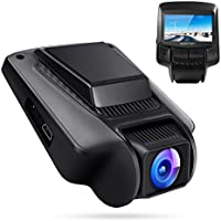"APEMAN Dashcam Wifi Cámara de Coche FHD 1080P DVR 170 °Lente Gran Angular 2.45 ""IPS LCD SONY IMX323 Sensor Súper visión nocturna con WDR, Grabación de bucle, Detección de movimiento, G-sensor, Monitor de estacionamiento"
