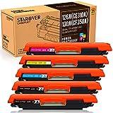 STAROVER Cartouches De Toner Compatible Pour HP 126A (CE310A) 130A (CF350A) Pour HP Color LaserJet Pro CP1025 CP1025NW CP1020 M275 M275NW MFP CP1020 CP1025 CP1025nw M176 M176FN M177 M177FW (5 pièces)