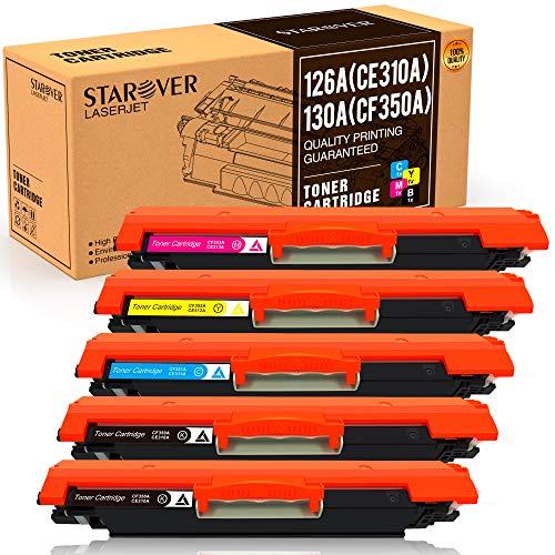 STAROVER 5x Cartuchos tóner compatibles HP 126A CE310A