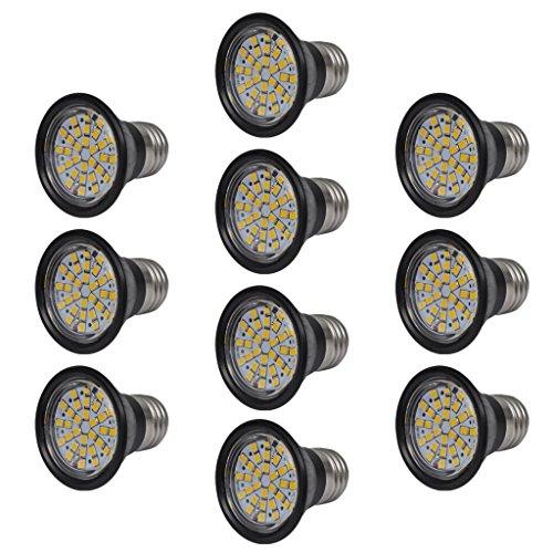 10er Set LED Spot 3W E27 warmweiß 50x58mm (Durchmesser x H) mit Farbtemperatur: Warmweiß (3000-3200K)