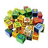 10 x Lego Duplo Bau Basic Stein 2x2x2 bedruckt Motiv Farbe zufällig gemischt z.B. rot blau gelb grün Zahlen Buchstaben Früchte Muster 31110