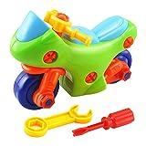 Isuper Montage Spielzeug Motorrad, Kinder Montage Spielzeug mit Werkzeugen für Kleine Mechaniker Kinder ab 3 Jahren