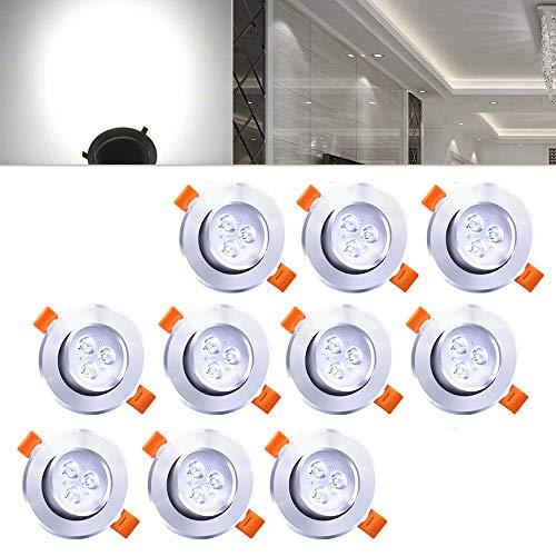 Hengda® ojos de buey LED Focos LED Lámpara | 10X 3W Blanco...