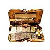 RMANTIC BEAR Augen Glitzer Lidschatten Golden Palette Make-up Kosmetik mit Pinsel Werkzeuge 10 Farben