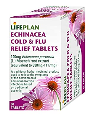 Lifeplan Echinacea Cold & Flu Relief 60 Tablets from Lifeplan Products