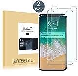 [2-Pack]Pellicola Vetro Temperato iPhone X,EasyULT 2 Pack Pellicola Protettiva in Vetro Temperato Screen Protector per iPhone X/iPhone 10 ,3D Touch Compatible (Durezza 9H, 0,26 mm) immagine