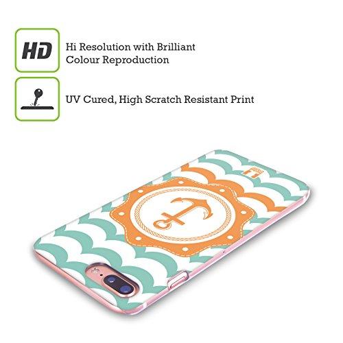 Head Case Designs Ancora Blu Viaggiatore Del Mare Cover Retro Rigida per Apple iPhone X Ancora Arancione