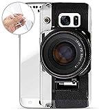 Hülle für Samsung Galaxy S7 - Handyhülle mit Motiv und Optimalen Schutz TPU Silikon Tasche Case Cover Schutzhülle - Kamera FD Lens