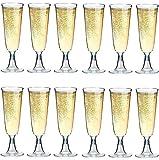 Sektgläser Plastik 50 Stück Einweg Champagnergläser 0,1l | Bruchfest - Glasklar | Höhe 16cm | Sektglas - Sektkelche