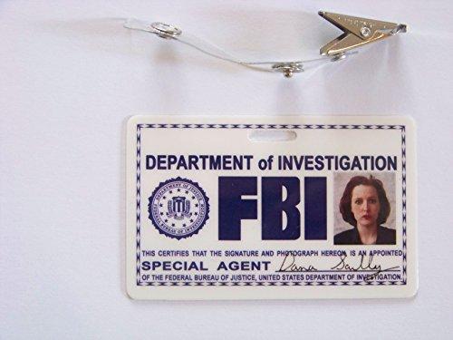 - Karte aus der Serie Akte X , (waagerecht) , ID Badge , Special Agent , X Files (X-kostüm)
