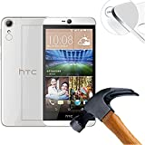 Lusee® 2 x Pack Film de Protection écran en Verre Trempé pour HTC Desire 728 5.5 pouce ULTRA RÉSISTANT INDICE Dureté 9H 2.5D 0,3mm Haute transparence