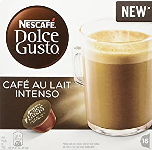 Nescafe Dolce Gusto Café Au lait Intenso Coffee Pods, Pack of 3 (Total 48 Capsules, 48 servings) from Nestlé UK