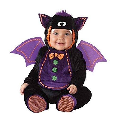 Kenmont Kleinkind Baby Säugling Spielanzug Tier Kostüm Overalls Foto-Prop Outfits Weihnachten Halloween Outwear Bodys (Fledermaus, 80)