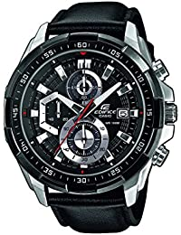 Casio Edifice Herrenuhr Analog Quarz mit Echtlederarmband – EFR-539L-1AVUEF