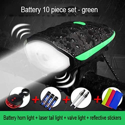 WYFDM Fahrradbeleuchtung - Superhelle Fahrradbeleuchtung, IP65, wasserdicht, Scheinwerfer für alle Fahrräder, Türbeleuchtung für Luftversorgung + reflektierende Aufkleber + Batterie,Rot