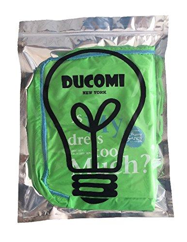 Ducomi® Set aus 5 Wasserdichtem Organizer für Gepäck und Taschen - Halten Sie die Kleidung Sauber und Trocken - Einfacher Aufbewahrungsweg für Reise und Urlaub (Grun)