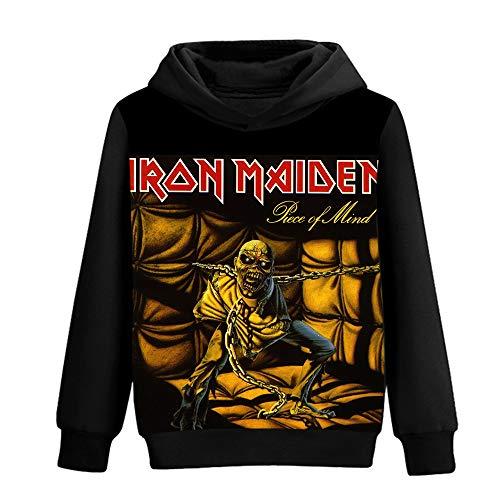 Unisex Iron Maiden Sudaderas Suelta la Manera de los Hoodies del algodón Puro de la impresión 3D Color del otoño suéter de Invierno Iron Maiden Sudaderas con Capucha (Color : A01, Size : XL)