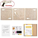 AreTop Do It Yourself Wooden Gun Shoots Rubber Bands Creative DIY Kits with Assembly Instruction