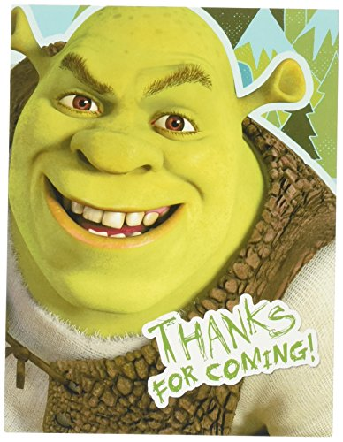 Shrek Forever After Thank-You Notes (8) Party Supplies