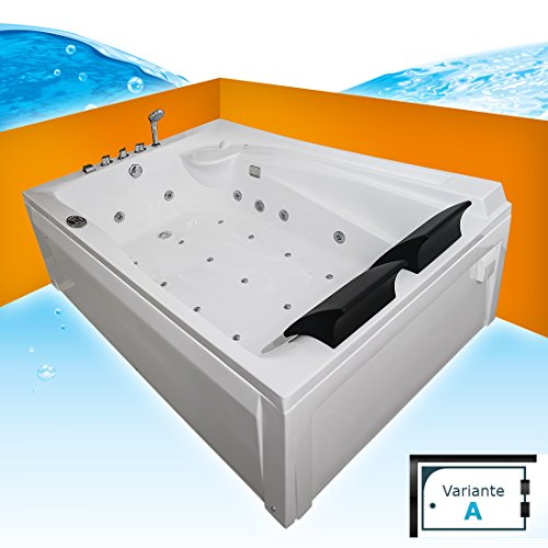 Whirlpool Vollausstattung Pool Eckwanne Wanne A612H-A Reinigungsfunktion 135x180, Sonderfunktion2:Ring-Zirkulation +30.-EUR, Selfclean:aktive Schlauch-Reinigung +70.-EUR