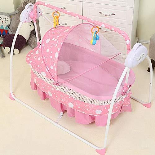 CWLLWC Babywippe,Baby elektrische Kinderbett Babybett Baby Schaukel Shaker schütteln Bett Neugeborene Kinder intelligenter schüttelt selbst Bett